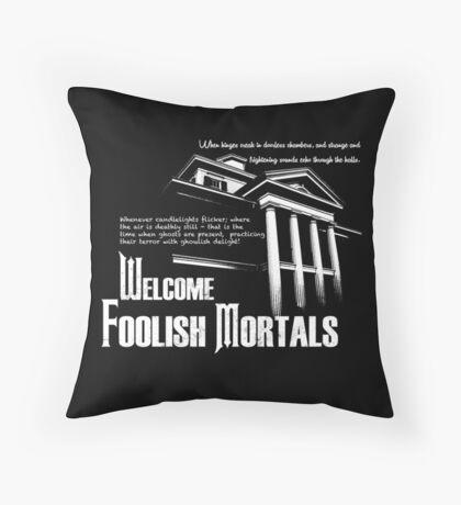 Haunted Mansion Ghost Host Speech Throw Pillow