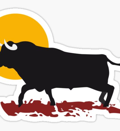 bull and sun Sticker
