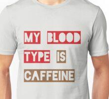 Blood Type Caffeine Unisex T-Shirt