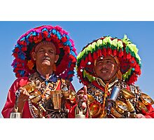 Water vendors at Djemaa el-Fna, Marrakesh Photographic Print