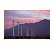 Malibu windfarm Art Print