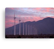 Malibu windfarm Canvas Print
