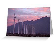 Malibu windfarm Greeting Card