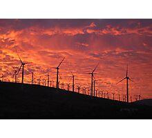 Malibu windfarm sunset-1 Photographic Print