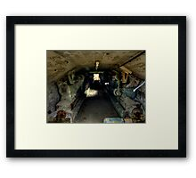 Cement Tunnel Framed Print