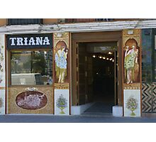 Triana (Sevilla Spain) restaurant front Photographic Print