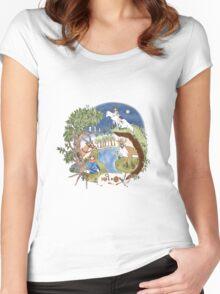 Princess Mononoke Wreath Women's Fitted Scoop T-Shirt