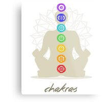 Chakras body Metal Print