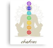 Chakras body Canvas Print