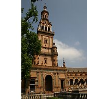 tower of the plaza de España ~ Sevilla, Spain Photographic Print