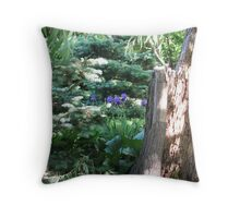 Wooded Spring Throw Pillow