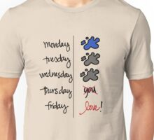 FRIDAY I'm in love! Unisex T-Shirt