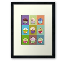 Cute cupcakes Framed Print