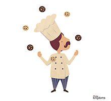 Cookie Moon Juggling Baker Photographic Print