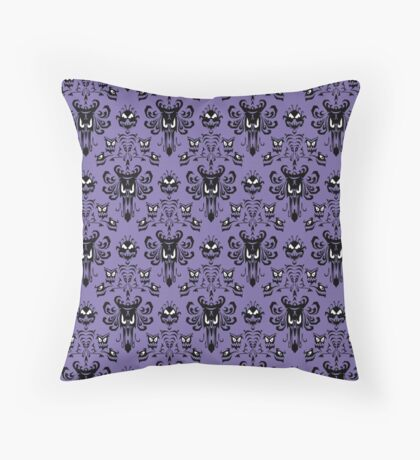 Haunted Mansion Wallpaper (Tile) Throw Pillow
