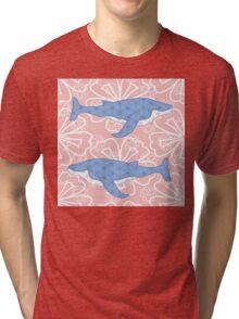 flower whale Tri-blend T-Shirt