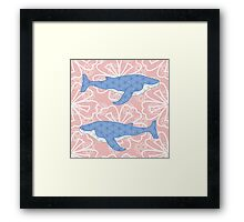 flower whale Framed Print