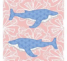 flower whale Photographic Print