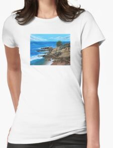 Laguna Beach, Heisler Park Plein Air Womens Fitted T-Shirt