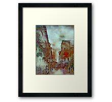 Streets of Quebec City  Framed Print