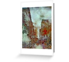 Streets of Quebec City  Greeting Card