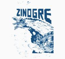 Monster Hunter- Zinogre Roar Design Blue Baby Tee