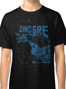 Monster Hunter- Zinogre Roar Design Blue Classic T-Shirt