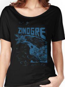 Monster Hunter- Zinogre Roar Design Blue Women's Relaxed Fit T-Shirt