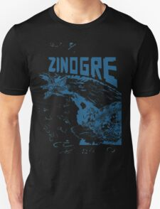 Monster Hunter- Zinogre Roar Design Blue T-Shirt