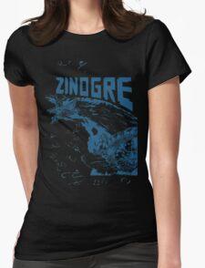Monster Hunter- Zinogre Roar Design Blue Womens Fitted T-Shirt