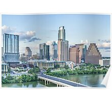Austin Cityscape from Above Poster