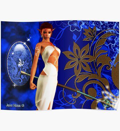 Enchanted Guardian Blue Gem Series # 1 Poster