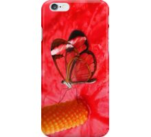 Glasswing on Anthurium iPhone Case/Skin