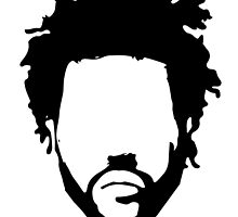 The Weeknd Head Outline by DeadlyGraphics