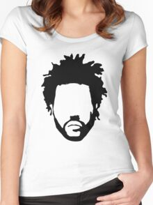 The Weeknd Head Outline Women's Fitted Scoop T-Shirt