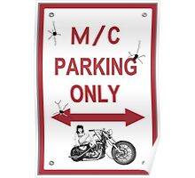 Motor Cycle Parking  Poster