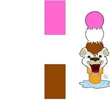 Ice Cream Bear - Hardcover Journal by Tom Gant