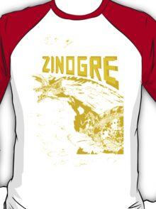 Monster Hunter- Zinogre Roar Design Yellow T-Shirt