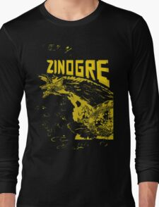 Monster Hunter- Zinogre Roar Design Yellow Long Sleeve T-Shirt