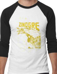 Monster Hunter- Zinogre Roar Design Yellow Men's Baseball ¾ T-Shirt