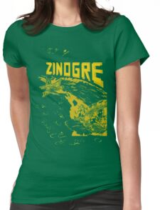 Monster Hunter- Zinogre Roar Design Yellow Womens Fitted T-Shirt