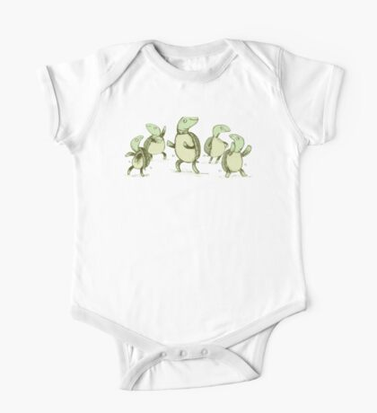 Dancing Turtles One Piece - Short Sleeve