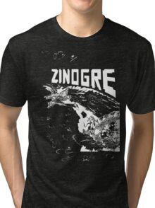 Monster Hunter- Zinogre Roar Design White Tri-blend T-Shirt