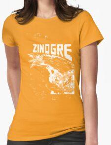 Monster Hunter- Zinogre Roar Design White Womens Fitted T-Shirt