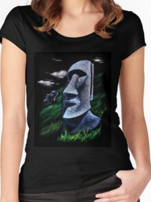 Easter Island Women's Fitted Scoop T-Shirt