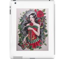 Red rose goth steampunk fairy faerie fantasy iPad Case/Skin