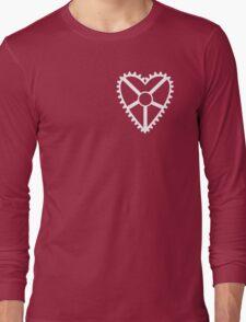 Heart Crank, Small White Long Sleeve T-Shirt
