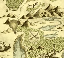 Treasure Map Sticker