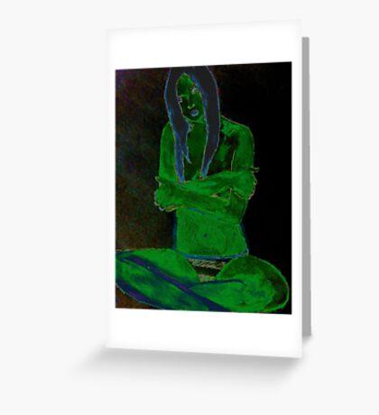 Reptile Girl Greeting Card