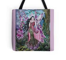 Foxglove digitalis fairy faerie, elf, pixie, fantasy Tote Bag